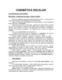 Cinemática Escalar