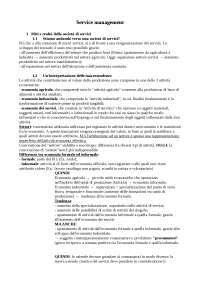 Appunti economia dei servizi - Service management, Normann