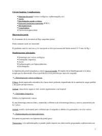 Apuntes sobre la Cirrosis hepática