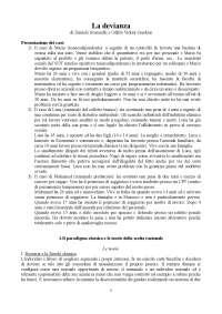 Lezioni sul testo La devianza, Scarscelli Guidoni