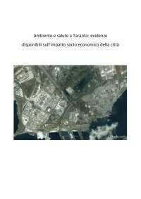 Tesi di laurea sul problema dell'ILVA di Taranto