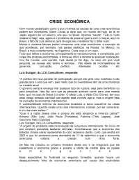 A Crise Econômica: resposta do Luiz Suzigan