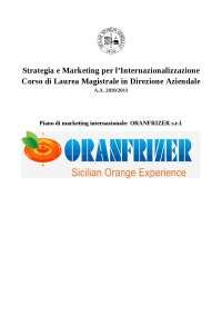 Piano di marketing internazionale