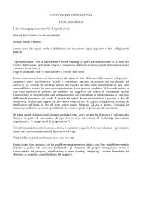 Appunti di gestione dell'innovazione - Economia