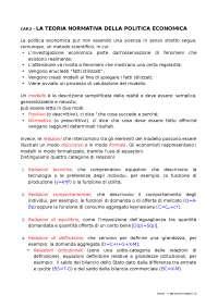 Riassunti lezioni di Politica Economica, Testo esame: Cellini