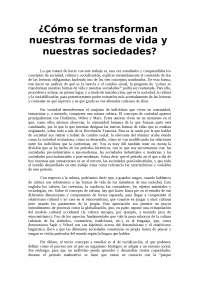 Trabajo sobre la Inercia y el Cambio Social