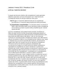 Lezione del 4 marzo 2013 procedura civile