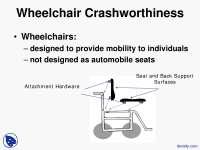 Wheelchair Crashworthiness - Health - Lecture Slides