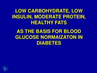Low Carbohydrate - Health - Lecture Slides