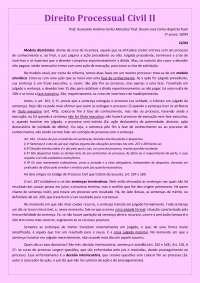 Processo Civil II - Prof. Doutor José Carlos Baptista Puoli