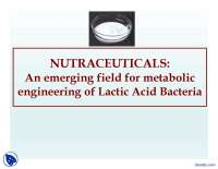 Nutraceuticals - Health - Lecture Slides