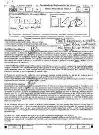 Direito Processual Penal III 1º Prova