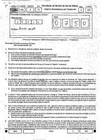 Direito Processual do Trabalho 1º Prova