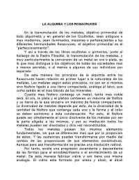 a Alquimia dos Rosacruzes