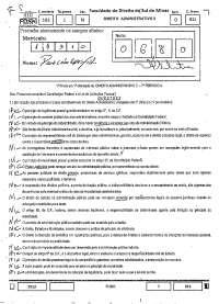Direito Administrativo II 1º Prova