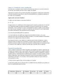 Temas 4 y 5 Microeconomia.Costes y produccion