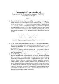 Geometria Computacional Lista 3 Exercícios