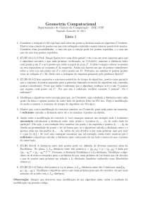 Geometria Computacional Lista 1 Exercícios