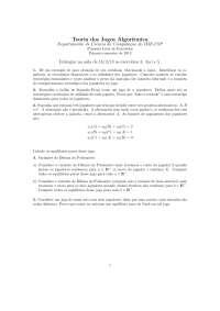 Teoria dos Jogos Algorítmica Lista 1
