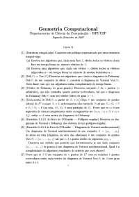 Geometria Computacional Lista 8 Exercícios