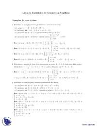 Lista de exercícios de Geometria Analítica