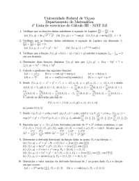 Matemática Lista 4 - MAT 241 I