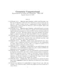 Geometria Computacional Lista 6 Exercícios