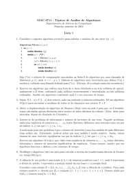 Tópicos de Análise de Algoritmos Lista 1