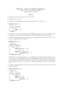 Tópicos de Análise de Algoritmos Lista 3