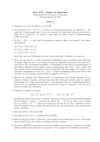 Tópicos de Análise de Algoritmos Lista 2