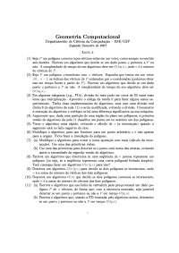 Geometria Computacional Lista 5 Exercícios