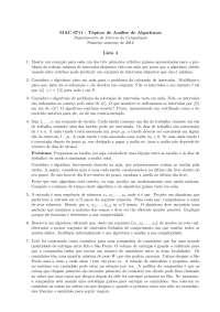Tópicos de Análise de Algoritmos Lista 4