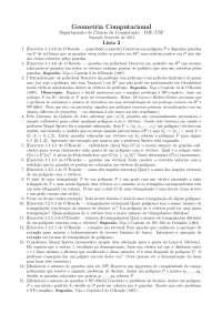 Geometria Computacional Lista 2 Exercícios