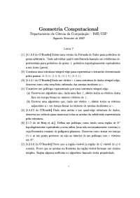 Geometria Computacional Lista 7 Exercícios