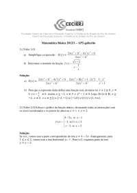 Matemática Básica Gabarito da AP2-2012-1
