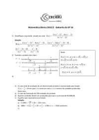 Matemática Básica Gabarito do EP 16-2012-2