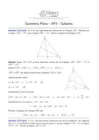 Geometria Básica AP3-GP-2012-2-Gabarito