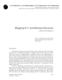 Blogging 9-11 and Memory Discourse