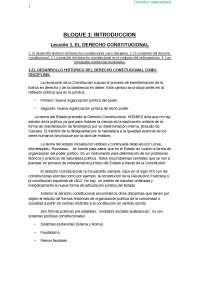 Derecho constitucionalL I - Apuntes