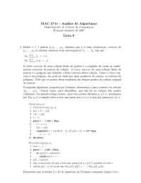 Análise de Algoritmos Lista 8
