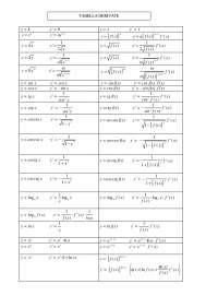 tabella derivate