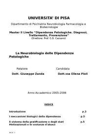 La neurobiologia delle dipendenze patologiche