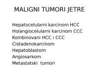 Tumori jetre