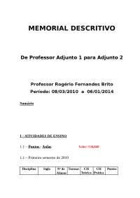 Relatorio Progressao Adj1 para Adj2 Dez 2013 - 03-memorial descritivo, Provas de Engenharia Mecânica