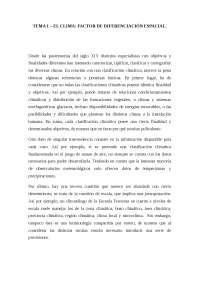 TEMA 1 - El clima: factor de diferenciación espacial