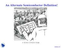 Semiconductors Introduction - Solid State Physics - Lecture Slides