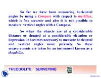 Theodolite Survey - Civil Engineering - Lecture Slides