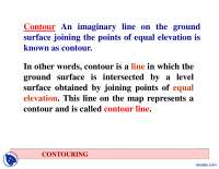 Contouring - Civil Engineering - Lecture Slides