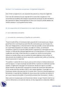 Notes sur La composition de la Commission et ses règles de fonctionnement - Droit communautaire