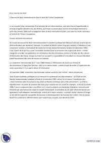 Notes sur les sources en droit international , Notes de Droit